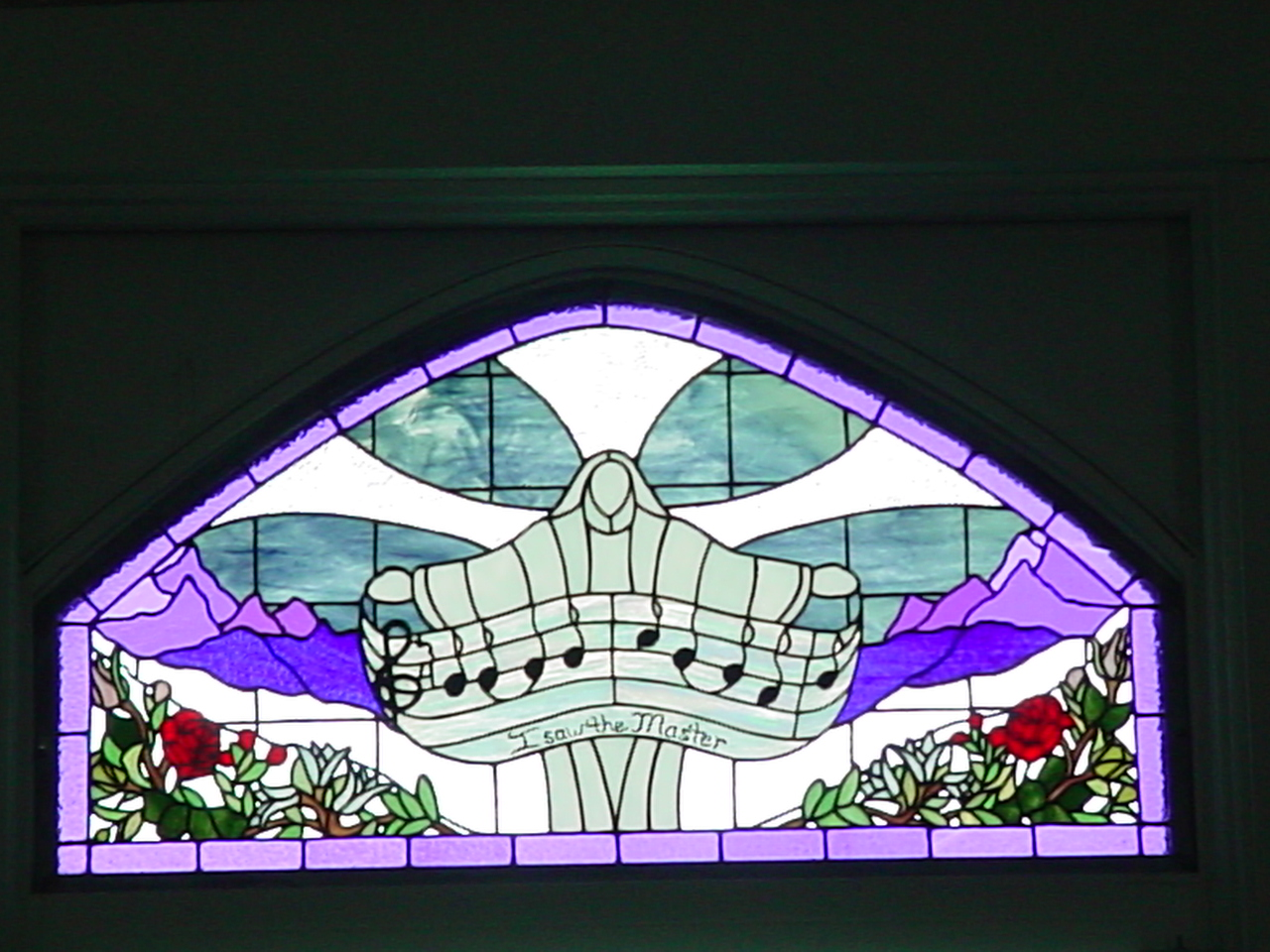 Stained Glass Music Window